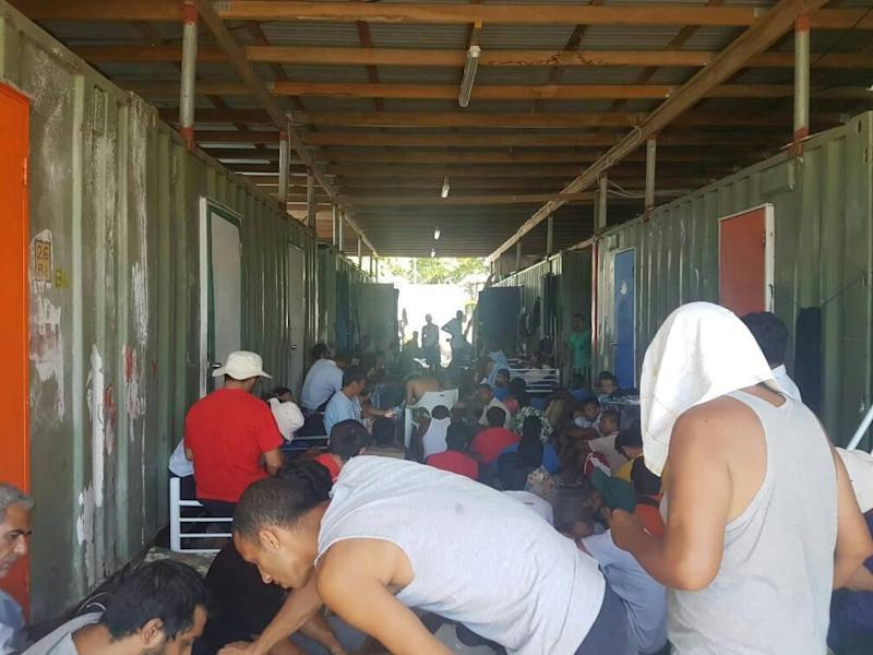 Men occupy the closed Manus Island immigration detention centre in Papua New Guinea: REUTERS