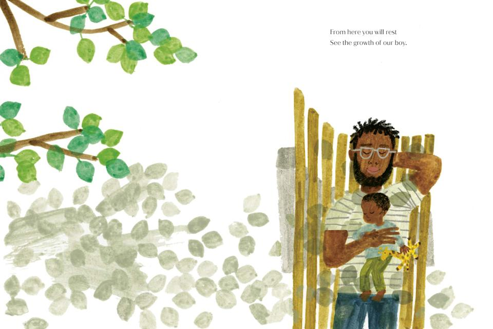 The illustrations feature a range of father and son relationships. (Random House)