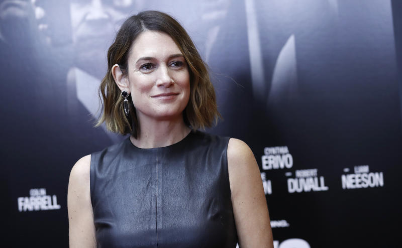 "Gillian Flynn attends a ""Widows"" screening on November 11, 2018 in New York City. (Photo by John Lamparski/Getty Images)"