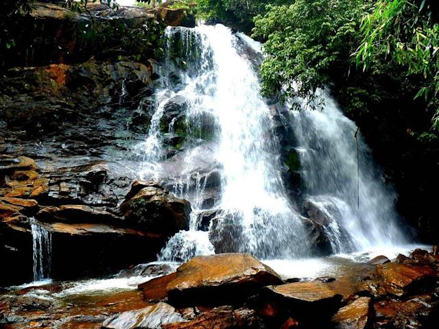 "Sirimane Falls in Kigga in Karnataka's Chikmagalur district is about 22 km from the famous temple town of Sringeri. <br><br>By <a href=""https://www.flickr.com/photos/21944021@N05/"" rel=""nofollow noopener"" target=""_blank"" data-ylk=""slk:kayceevinay"" class=""link rapid-noclick-resp"">kayceevinay</a>"