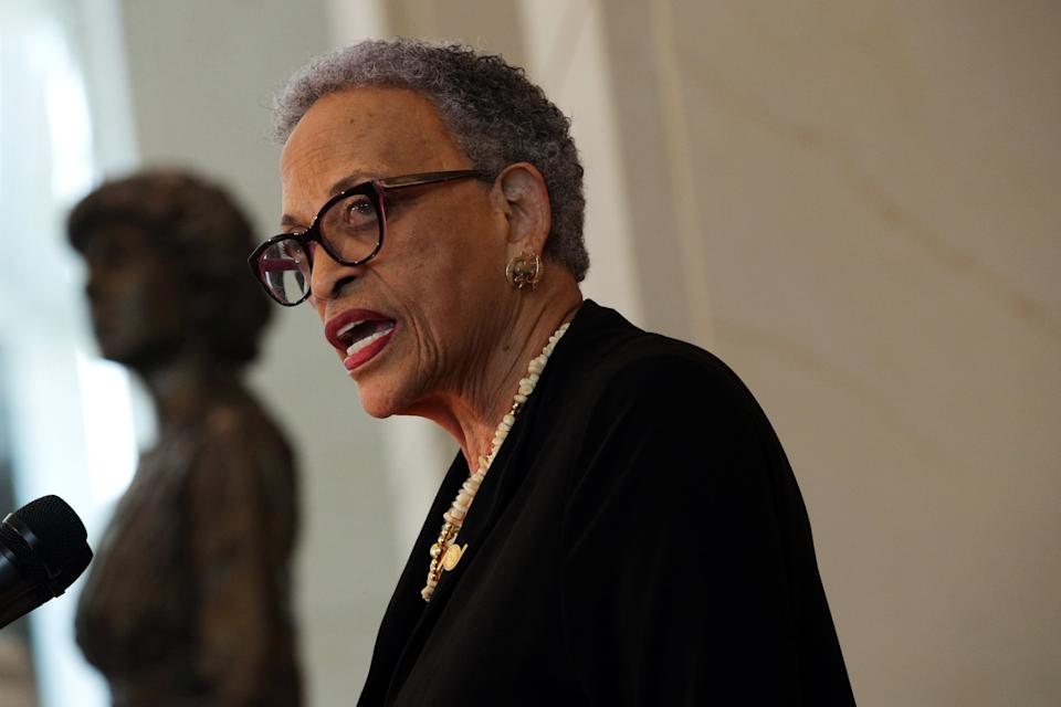 """""""When systemic racism is denied. How will we ever move beyond it?"""" said anthropologist Johnnetta Cole, president emerita of Spelman and Bennett colleges. (Photo: Alex Wong via Getty Images)"""