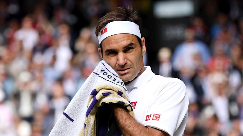 Roger Federer failed to win either of his two championship points against Novak Djokovic. Pic: Getty