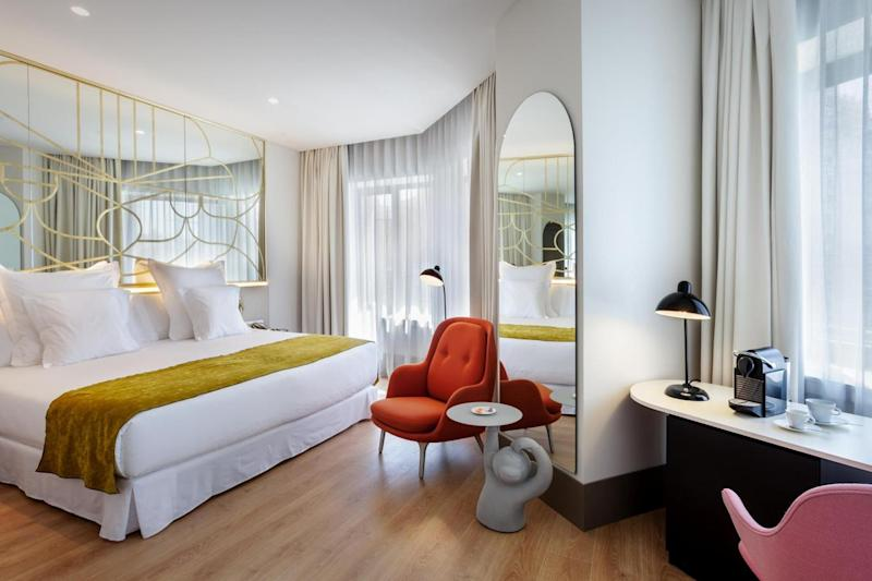 Bedroom with city views (Barcelo Torre de Madrid )