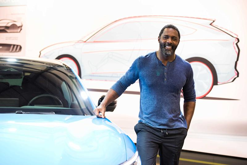 "Actor Idris Elba teams up with Ford to launch the all-electric Mustang Mach-E SUV in Los Angeles, Calif. on Nov. 17, 2019. The automaker said in a news release that this is ""the first time in Mustang's 55-year history that we've expanded the stable."" Xxx Hooper Fordmustangmache 007 Jpg F Usa Ca (Photo by Sandy Hooper, USA TODAY, USA TODAY NETWORK via Imagn Content Services, LLC/USA Today Network/Sipa USA)"