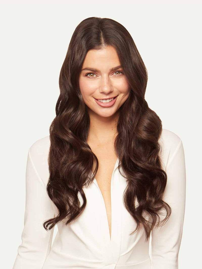 """<p><strong>remy human hair</strong></p><p>luxyhair.com</p><p><strong>$249.00</strong></p><p><a href=""""https://www.luxyhair.com/collections/halo-hair-extensions/products/chocolate-brown-halo-hair-extensions-20-180g?type=brown"""" rel=""""nofollow noopener"""" target=""""_blank"""" data-ylk=""""slk:Shop Now"""" class=""""link rapid-noclick-resp"""">Shop Now</a></p><p>Luxy works with verified distributors in China who are all paid a fair salary with normal working hours and holidays—you can even take a virtual tour through their factory. </p><p>More than that, these extensions are made with top quality 100 percent remy hair (meaning it's minimally processed and super high quality). And, if you have any questions, simply slip in to Luxy's DMs on Insta. They're super responsive and always willing to help get you the perfect match.</p>"""