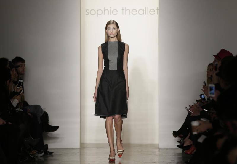 The Sophie Theallet Fall 2013 collection is modeled during Fashion Week in New York on Tuesday, Feb. 12, 2013. (AP Photo/Seth Wenig)