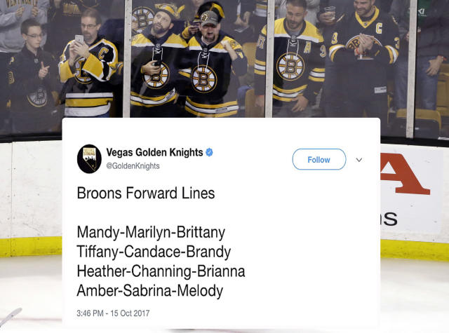 "<p>The Vegas Golden Knights are a better team than expected, but their social media strategy is still a work in progress. Ahead of Vegas' game against the Bruins on October 15, the Knights tweeted out what they must have thought was a playful jab at their opponents. The social media team never deleted or apologized for the offensive tweet, opting instead to continue tweeting throughout the game using specific text to demonstrate a Boston accent. Click <a href=""https://ca.sports.yahoo.com/golden-knights-tweeting-bruins-lines-154913356.html"" data-ylk=""slk:here;outcm:mb_qualified_link;_E:mb_qualified_link"" class=""link rapid-noclick-resp newsroom-embed-article"">here</a> to read more. </p>"
