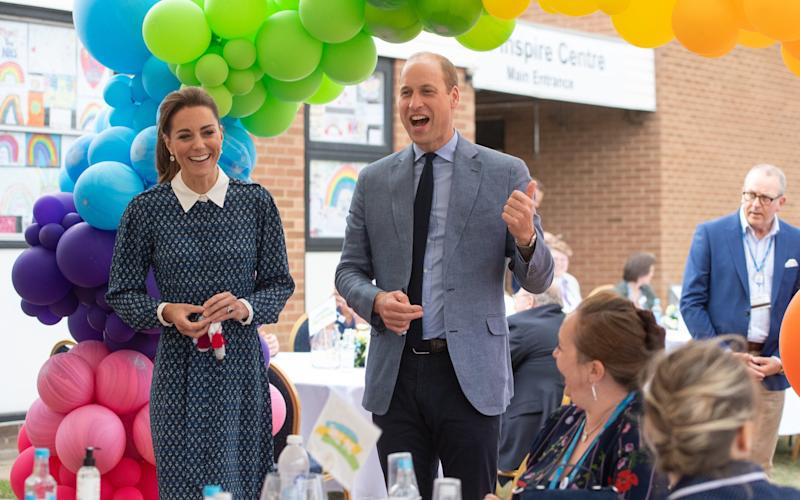 Kate and William at the party - Getty