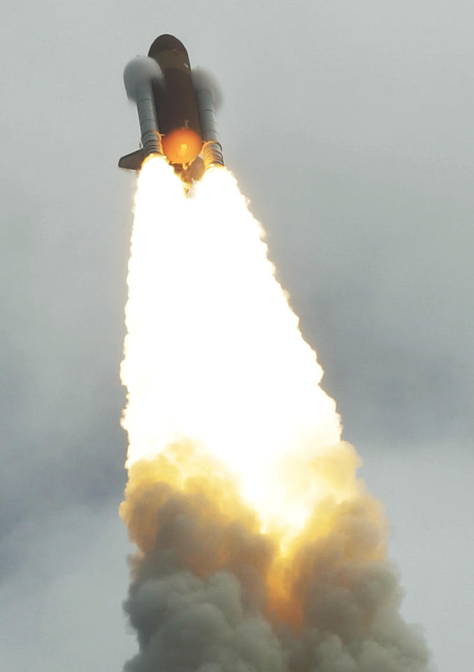The space shuttle Atlantis lifts off from the Kennedy Space Center Friday, July 8, 2011, in Cape Canaveral, Fla. Atlantis is the 135th and final space shuttle launch for NASA. (AP Photo/Chris O'Meara)