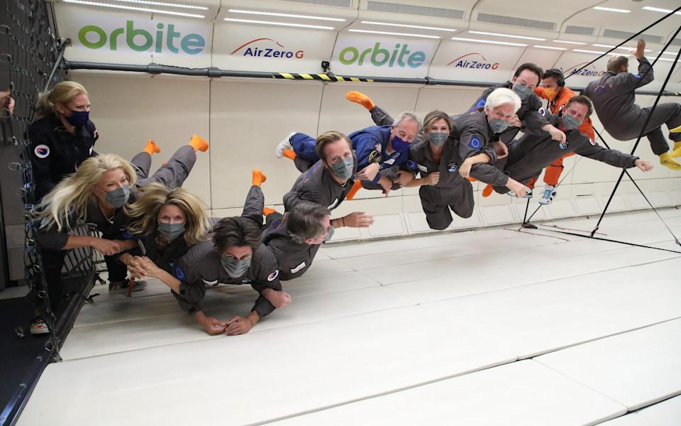 The trainees experienced weightlessness
