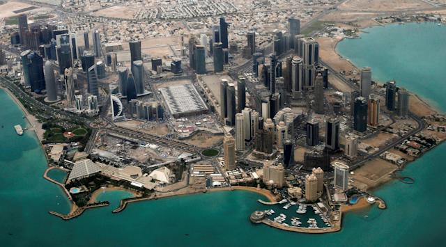 <p>An aerial view of Doha's diplomatic area March 21, 2013. (Photo: Fadi Al-Assaad/Reuters) </p>