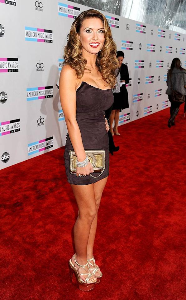 Audrina Patridge arrives at the 2011 American Music Awards held at the Nokia Theatre L.A. LIVE. (11/20/2011)