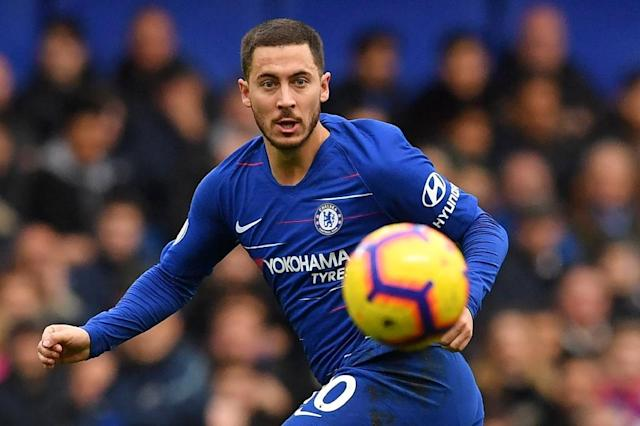 Chelsea are hoping Belgian star Eden Hazard will sign an extension to his present contract (AFP Photo/Ben STANSALL)