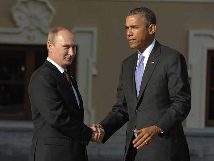 Russia''s President Vladimir Putin is set to hold his first official meeting with US President Barack Obama in two years (AFP Photo/Eric Feferberg)