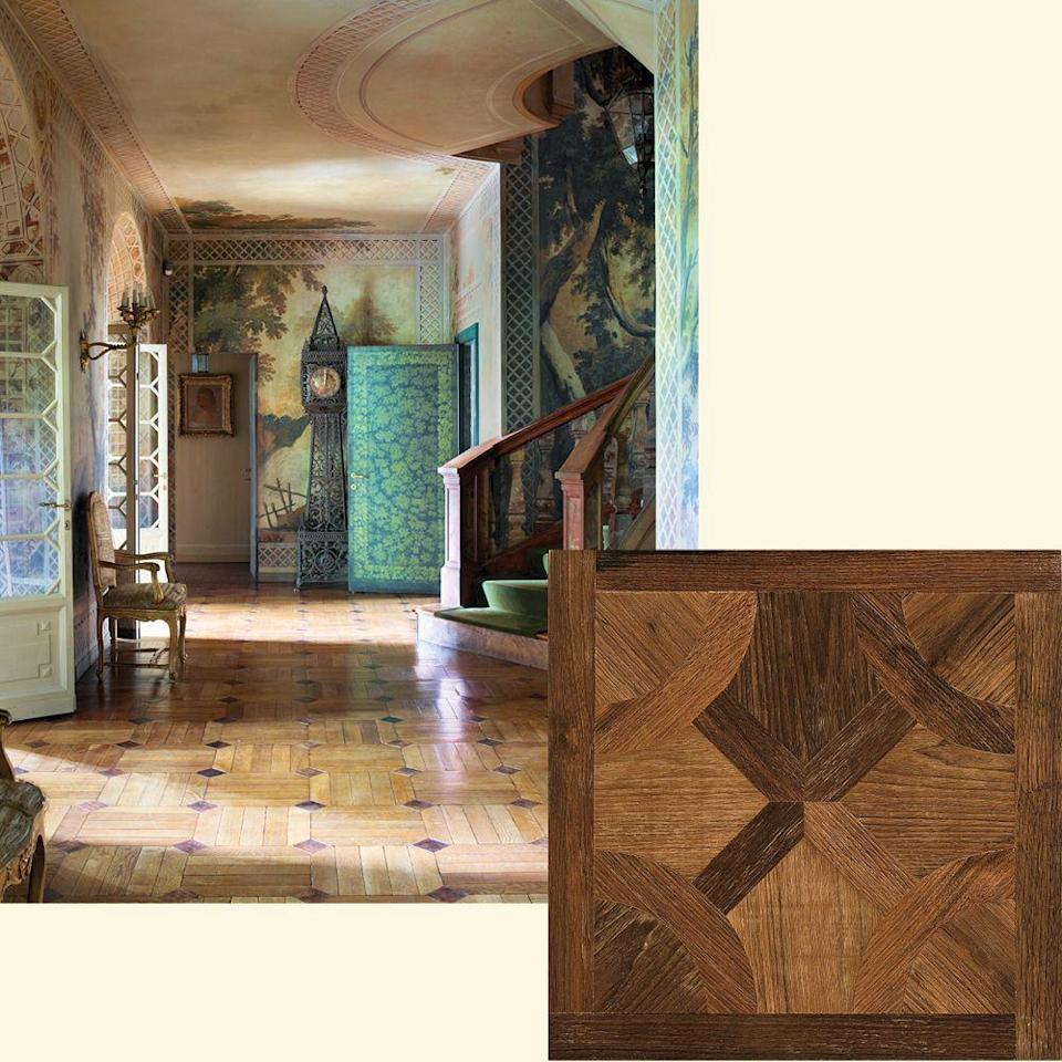 "<p>Parquet floors are done in dark walnut and oak in a <a href=""https://www.elledecor.com/design-decorate/house-interiors/a18930009/milan-apartment-peregalli/"" rel=""nofollow noopener"" target=""_blank"" data-ylk=""slk:Milan apartment"" class=""link rapid-noclick-resp"">Milan apartment</a> designed by ­Studio Peregalli. To get the look, try Fountainbleu European Oak from <a href=""http://duchateau.com/"" rel=""nofollow noopener"" target=""_blank"" data-ylk=""slk:duchateau.com"" class=""link rapid-noclick-resp"">duchateau.com</a>.</p>"
