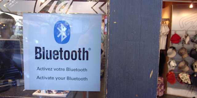 Bluetooth sign