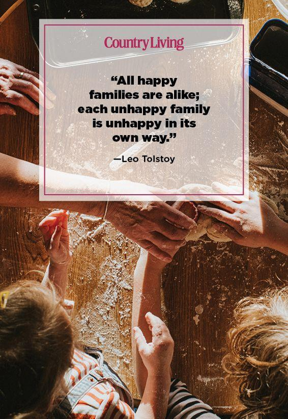"<p>""All happy families are alike; each unhappy family is unhappy in its own way.""</p>"