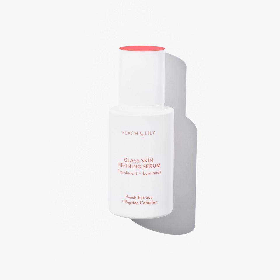 """<p><strong>PEACH & LILY</strong></p><p>ulta.com</p><p><strong>$39.00</strong></p><p><a href=""""https://go.redirectingat.com?id=74968X1596630&url=https%3A%2F%2Fwww.ulta.com%2Fglass-skin-refining-serum%3FproductId%3DxlsImpprod18971035&sref=https%3A%2F%2Fwww.oprahmag.com%2Fbeauty%2Fskin-makeup%2Fg32959694%2Fbest-korean-skin-care-products%2F"""" rel=""""nofollow noopener"""" target=""""_blank"""" data-ylk=""""slk:Shop Now"""" class=""""link rapid-noclick-resp"""">Shop Now</a></p><p>Trying to achieve that perfect """"glass skin"""" that's been trending in the Korean beauty world? This refining serum gets you one step closer with a combination of ingredients like niacinamide, hyaluronic acid, and peach extract. """"Whenever I use this serum, people always ask me what highlighter I'm wearing,"""" says <a href=""""https://www.instagram.com/erinstoyo/?hl=en"""" rel=""""nofollow noopener"""" target=""""_blank"""" data-ylk=""""slk:Erin Stovall"""" class=""""link rapid-noclick-resp"""">Erin Stovall</a>, associate beauty editor at <em>O, The Oprah Magazine.</em> """"They're usually shocked to learn that it's actually a skincare product that's responsible for my glow and not a shimmery cosmetic! It shines through my tinted moisturizer, making my skin look smoother and more radiant.""""</p>"""