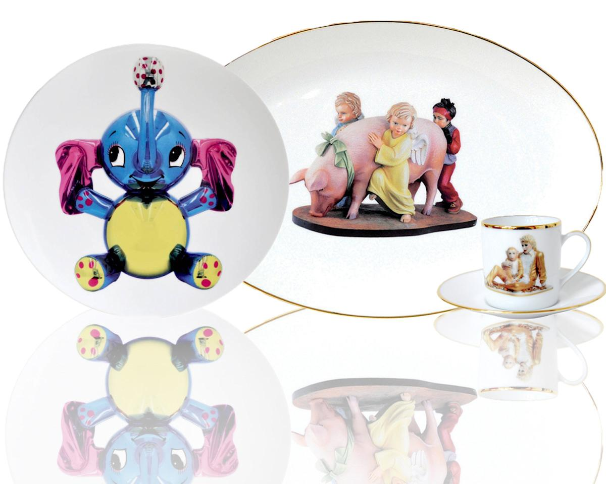 "<p>Jeff Koons's ""Banality"" by Bernardaud, available <a href=""http://www.bernardaud150.com/koons"">here</a>. <br /><br /></p>"