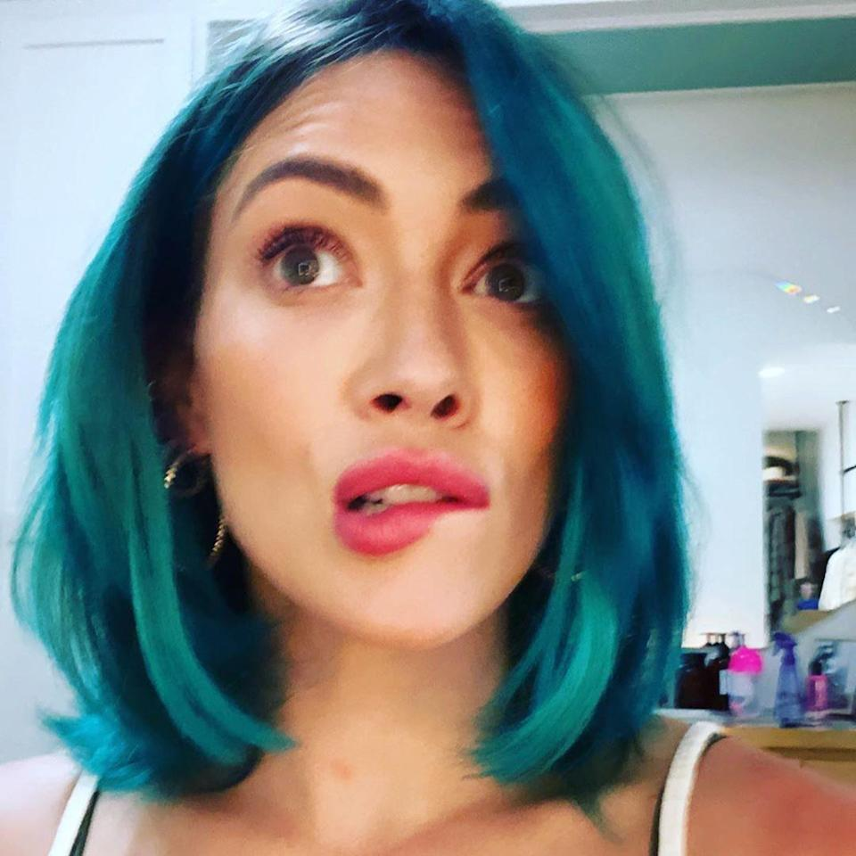 """<p>It may not be the easiest color to maintain, but if pink isn't your thing, Blue might be the option for you. Hairstylist and YouTuber <a href=""""https://www.instagram.com/bradmondonyc/"""" rel=""""nofollow noopener"""" target=""""_blank"""" data-ylk=""""slk:Brad Mondo"""" class=""""link rapid-noclick-resp"""">Brad Mondo</a> says he's seeing deep blues like turquoise and royal blue trending for fall.<br> <br> Hilary Duff may have been on to something back in April when she tried this exact combination of blue hues on for size. Best of all, Mondo says it's a color that will look cute on a range of textures. """"Sleek and straight, bedhead, wavy, extra curly — anything,"""" he shares.</p> <p>Just be sure your stylist is coloring your hair in a way that works for your texture. Maintain this look at home with a <a href=""""https://www.allure.com/gallery/best-shampoo-conditioner-for-color-treated-hair?mbid=synd_yahoo_rss"""" rel=""""nofollow noopener"""" target=""""_blank"""" data-ylk=""""slk:color-safe shampoo"""" class=""""link rapid-noclick-resp"""">color-safe shampoo</a> as well as """"masks and treatments to keep the health of your hair."""" <a href=""""https://shop-links.co/1718391120370322512"""" rel=""""nofollow noopener"""" target=""""_blank"""" data-ylk=""""slk:Overtone has color-depositing hair masks"""" class=""""link rapid-noclick-resp"""">Overtone has color-depositing hair masks</a> that will keep your hue fresh and add a boost of hydration.</p>"""
