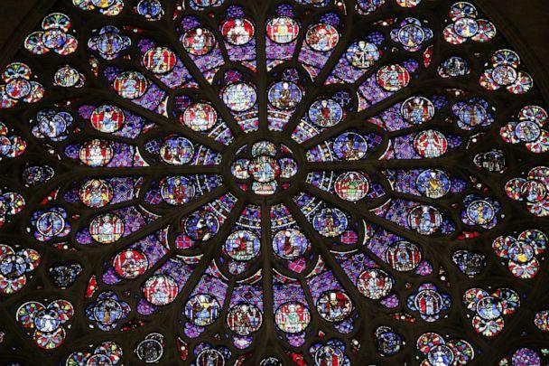 PHOTO: A view of the middle-age stained glass rosace on the southern side of the Notre-Dame de Paris cathedral, Nov. 29, 2012, in Paris. (Patrick Kovarik/AFP/Getty Images)