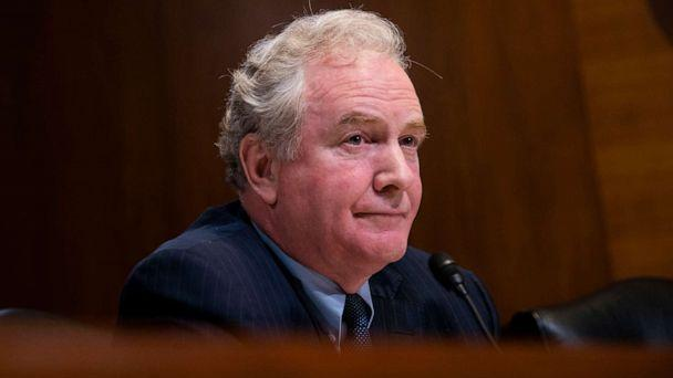 PHOTO: Sen. Chris Van Hollen listens during a Financial Services and General Government Subcommittee hearing, at the Capitol on May 15, 2019 in Washington. (Anna Moneymaker/Getty Images, FILE)