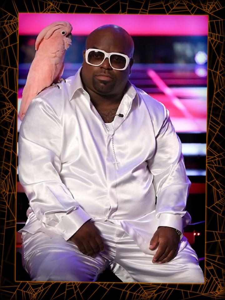 "<b>Cee Lo Green </b><span style=""font-weight:bold;"">and Lady Bird</span> (""The Voice"")<br><b>Level of difficulty:</b> Easy<br><br>For a quick and simple costume this Halloween, you could be ""The Voice"" coach Cee Lo Green. Though he's known for his quirky fashion sense, imitating his style should be very easy. Bedazzle a track suit (preferably an Adidas branded one), throw on big sunglasses and gold jewelry, and, finally, carry around a stuffed pink cockatoo -- sorry, Purrfect, cats are so last season!"