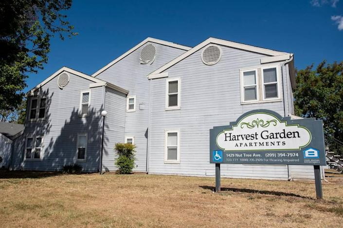 Harvest Garden Apartments located at 1429 Nut Tree Avenue in Livingston, Calif., on Monday, April 26, 2021. In 2020, the coalition sought more than $2.2 million in state and federal tax credits for purchasing and rehabbing the complex.