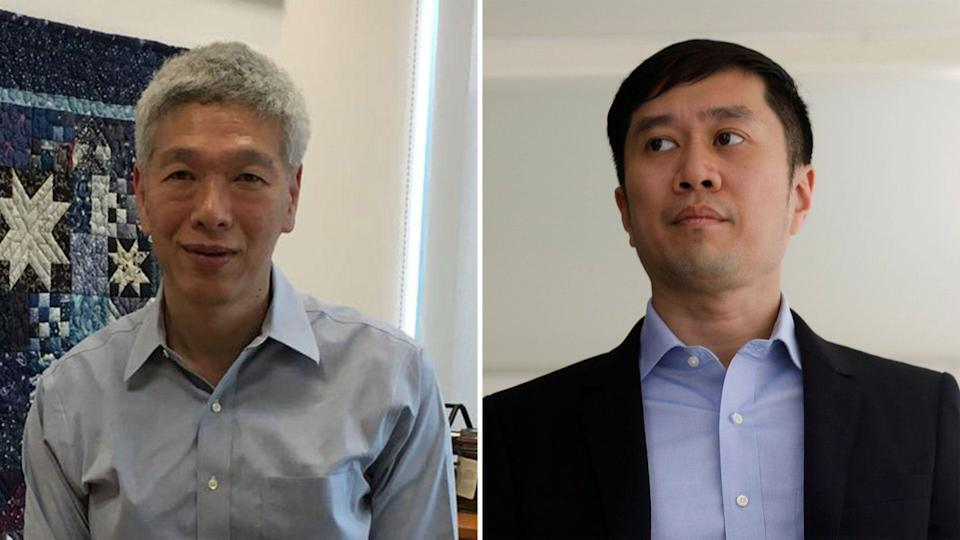 Prime Minister Lee Hsien Loong's estranged younger brother Hsien Yang (left) and civil society activist Jolovan Wham. (Yahoo News Singapore file photo)