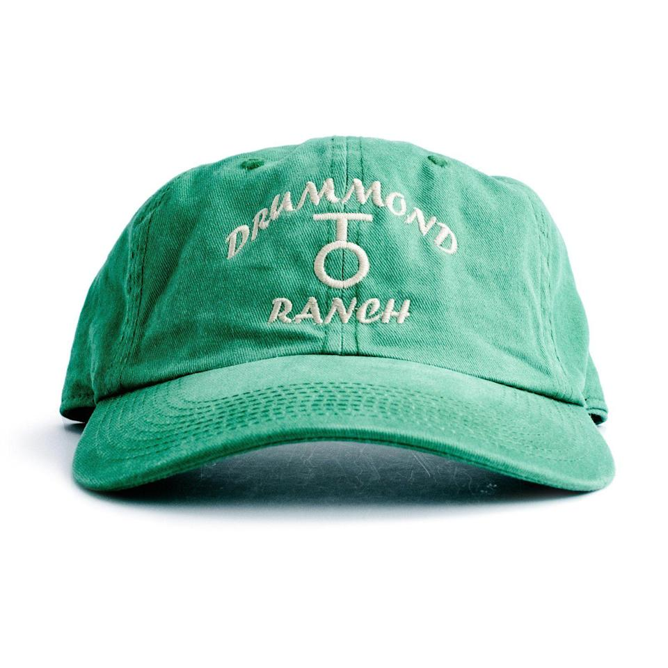 """<p>themercantile.com</p><p><strong>$16.00</strong></p><p><a href=""""https://www.themercantile.com/collections/clothing/products/drummond-ranch-hat?variant=30549364675"""" rel=""""nofollow noopener"""" target=""""_blank"""" data-ylk=""""slk:Shop Now"""" class=""""link rapid-noclick-resp"""">Shop Now</a></p><p>Ladd and his brother Tim have worn a hat exactly like this one for years. It comes weathered and worn, so he won't have to do any """"breaking in"""" of his own.</p>"""