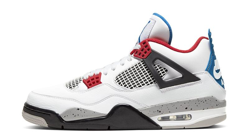 look for no sale tax on feet shots of This Air Jordan 4 Combines Four Classic Colorways In One Shoe