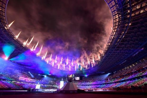 Fireworks illuminate the Tokyo sky at the conclusion of a vibrant and resilient instalment of the Summer Games, often thought to be improbable due to the COVID-19 pandemic. (Philip Fong/AFP/Getty Images - image credit)