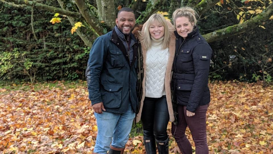 JB Gill and wife Chloe down on their farm with White Wine Question Time host, Kate Thornton