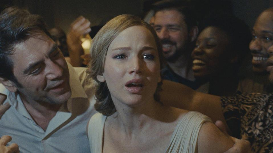 Jennifer Lawrence and Javier Bardem in Darren Aronofsky's 'mother!' (credit: Paramount)