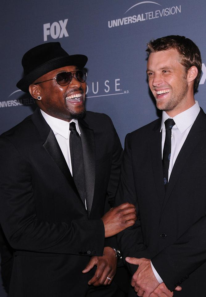 "Omar Epps and Jesse Spencer arrive at the ""<a target=""_blank"" href=""http://tv.yahoo.com/house/show/36106"">House</a>"" Series Finale Wrap Party on Friday, April 20, 2012 at Cicada in downtown Los Angeles, California."