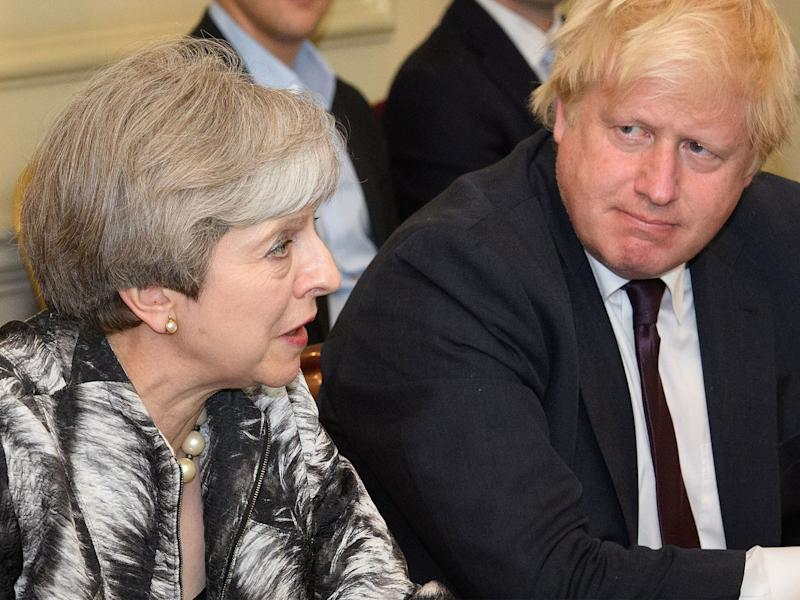 Ms May will be joined by Foreign Secretary Boris Johnson and others at the meeting: PA