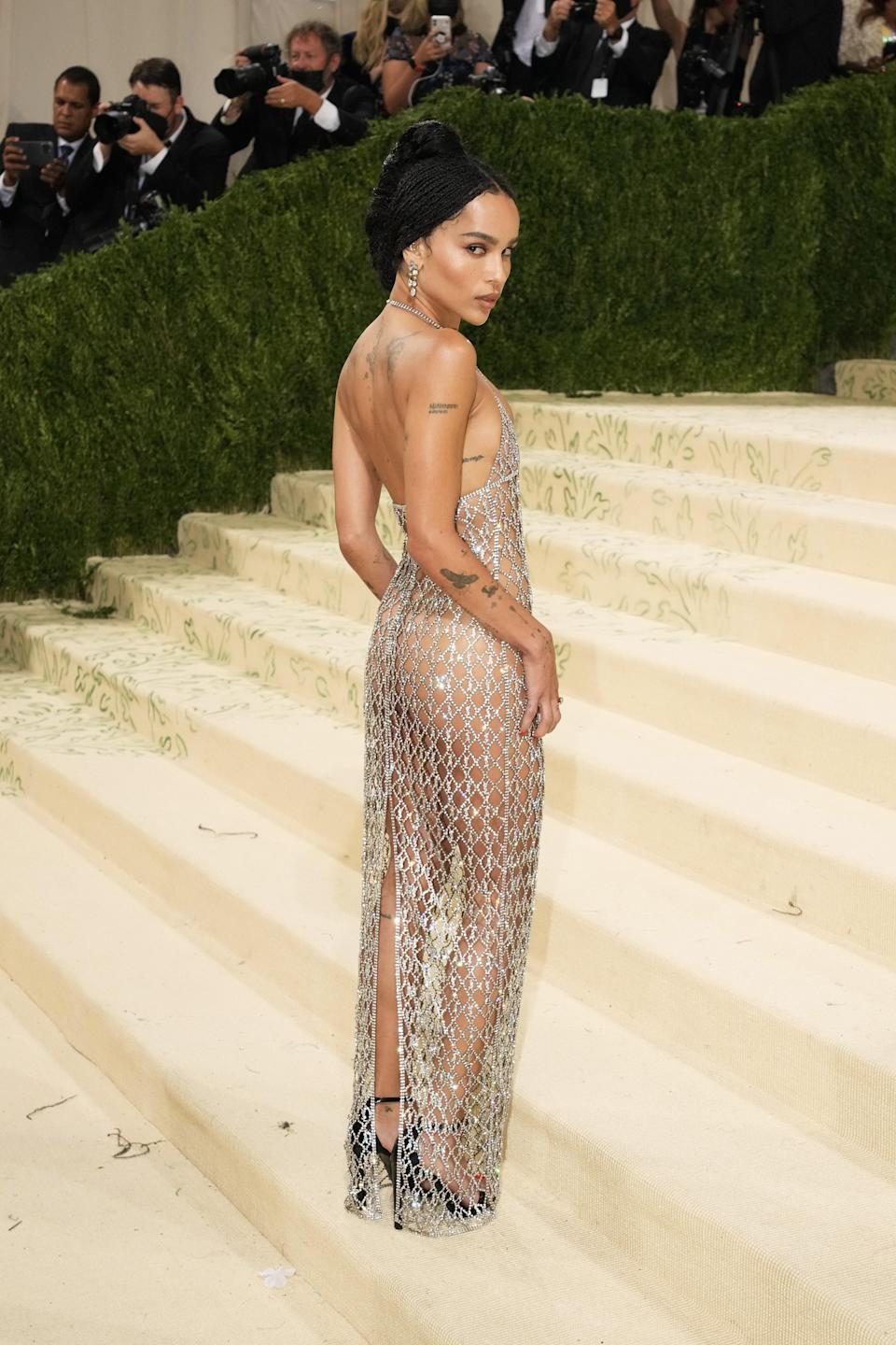 """<h1 class=""""title"""">The 2021 Met Gala Celebrating In America: A Lexicon Of Fashion - Arrivals</h1><cite class=""""credit"""">Jeff Kravitz/Getty Images</cite>"""