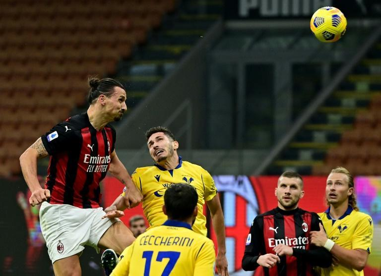 Ac Milan forward Zlatan Ibrahimovic headed in the equaliser after a penalty miss.