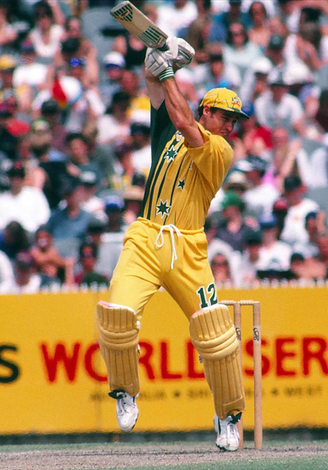 AUSTRALIA - UNDATED: Michael Bevan of Australia bats in a one day international match. (Photo by Getty Images)