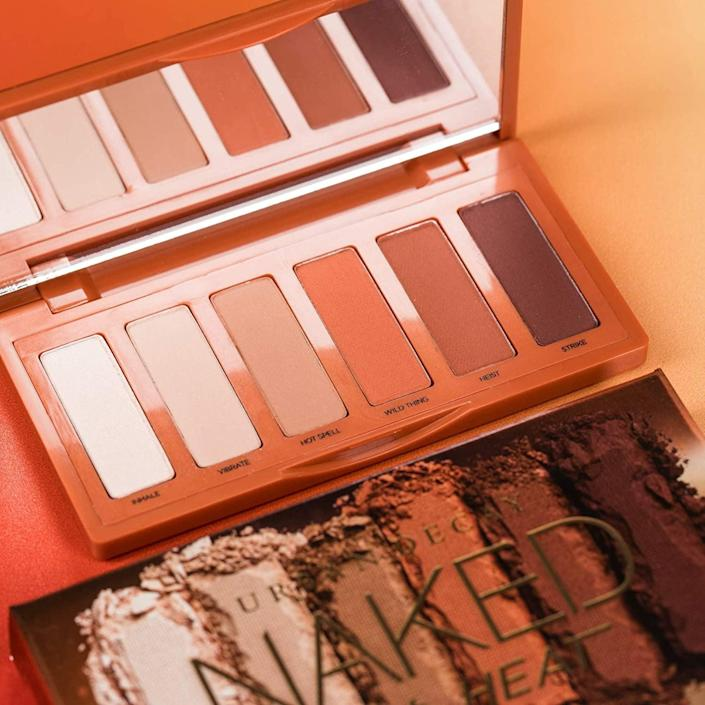 <p>The <span>Urban Decay Naked Petite Heat Eyeshadow Palette</span> ($29) will let you create matte warm looks that range from minimalistic and light to dramatic and smoky.</p>