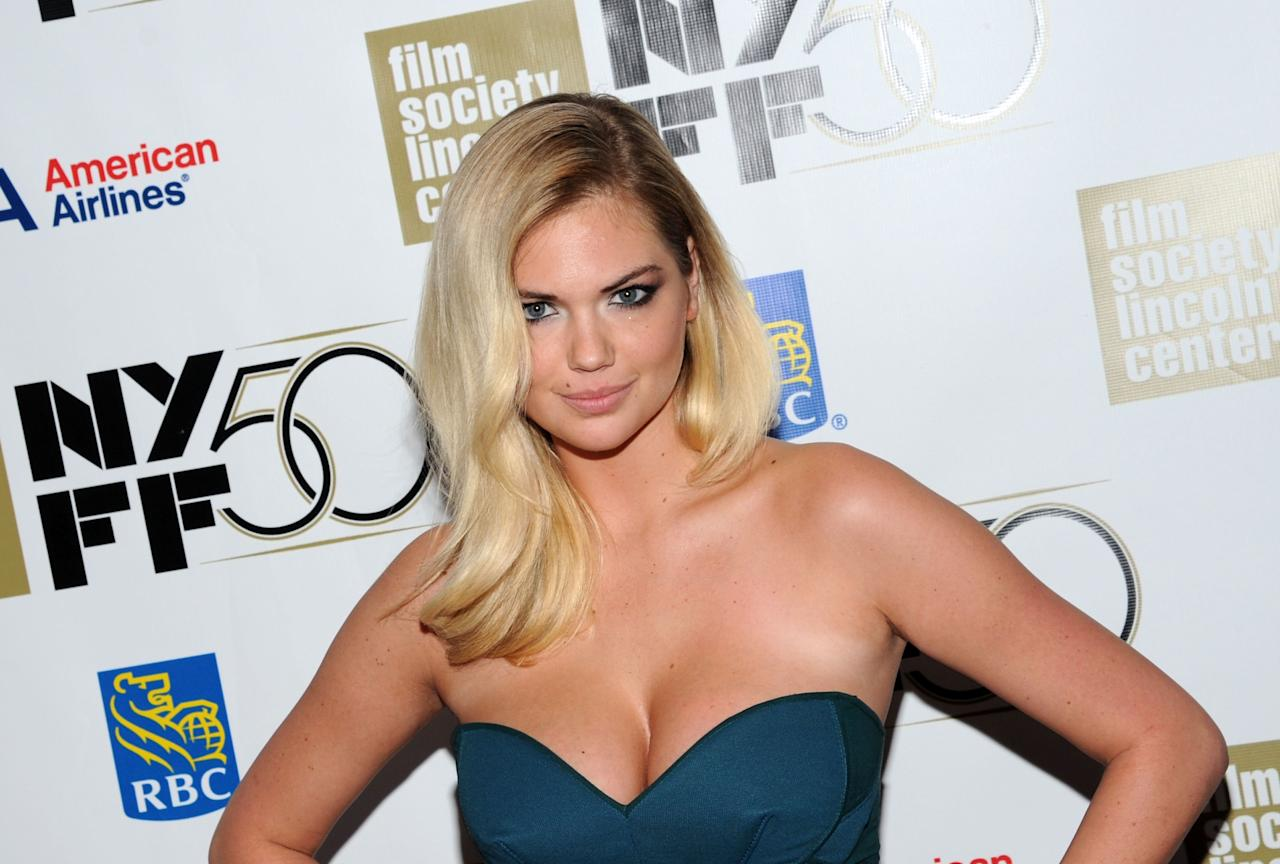 """NEW YORK, NY - OCTOBER 12:  Kate Upton attends the """"No"""" Premiere During The 50th New York Film Festival at Alice Tully Hall on October 12, 2012 in New York City.  (Photo by Ilya S. Savenok/Getty Images)"""