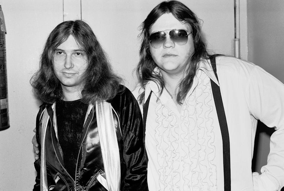 Jim Steinman and Meat Loaf in 1977. (Photo: Gary Gershoff/Getty Images)