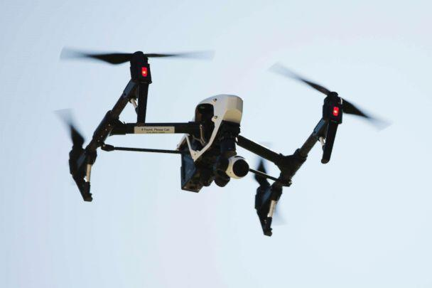 PHOTO: A drone operated camera captures videos and still images of an apartment building in Philadelphia, April 14, 2016. (Matt Rourke/AP, FILE)