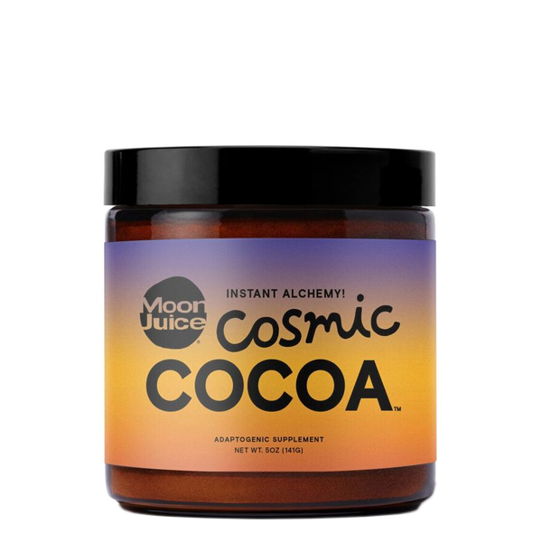 """<h3>Moon Juice Cosmic Cocoa</h3><p>Who doesn't love cozying up with a warm cup of hot chocolate? Moon Juice's feel-good version features a base cacao powder with goji berry, reishi mushroom extract, and ashwagandha root and leaf extract. (Add it to coffee for an extra treat.)</p><br><br><strong>Moon Juice</strong> Cosmic Cocoa, $30, available at <a href=""""https://www.thedetoxmarket.com/collections/wellness/products/cosmic-cocoa"""" rel=""""nofollow noopener"""" target=""""_blank"""" data-ylk=""""slk:The Detox Market"""" class=""""link rapid-noclick-resp"""">The Detox Market</a>"""