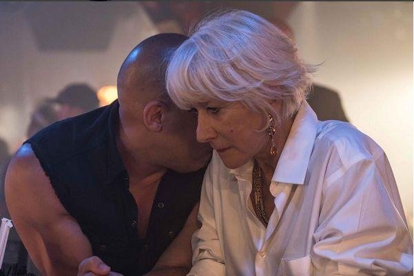 Mirren and Diesel in <em>The Fate of the Furious</em>. (Photo: Instagram)