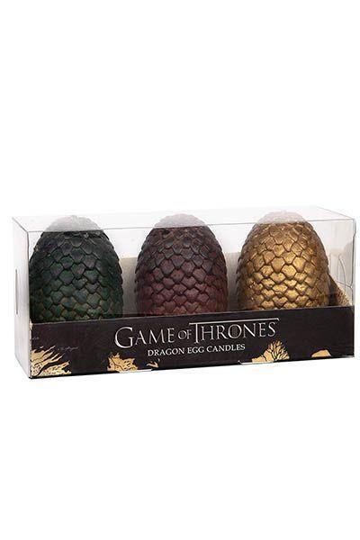 "<p><strong>Game of Thrones</strong></p><p>amazon.com</p><p><strong>$27.99</strong></p><p><a href=""http://www.amazon.com/dp/B07D91ZFHW/?tag=syn-yahoo-20&ascsubtag=%5Bartid%7C10055.g.4745%5Bsrc%7Cyahoo-us"" rel=""nofollow noopener"" target=""_blank"" data-ylk=""slk:Shop Now"" class=""link rapid-noclick-resp"">Shop Now</a></p><p>Yes, the series is over, but you can let him linger in Winterfell a little longer with these dragon-egg candles. It'll keep the <em>Game of Thrones</em> vibe going until George R.R. Martin (finally?) finishes his next book.</p>"