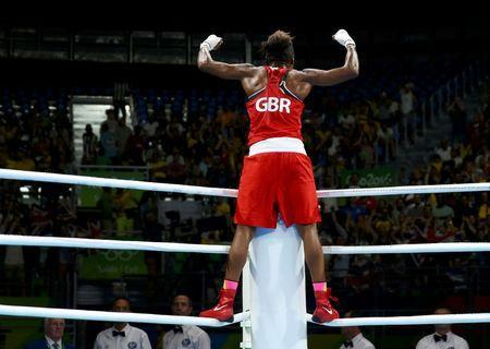 2016 Rio Olympics - Boxing - Final - Women's Fly (51kg) Final Bout 267 - Riocentro - Pavilion 6 - Rio de Janeiro, Brazil - 20/08/2016. Nicola Adams (GBR) of Britain celebrates after winning her bout. REUTERS/Peter Cziborra