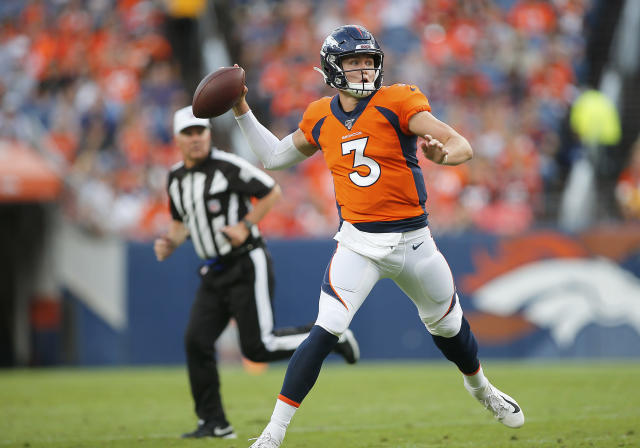 Drew Lock could be out for a while with the Broncos. (Photo by Russell Lansford/Icon Sportswire via Getty Images)
