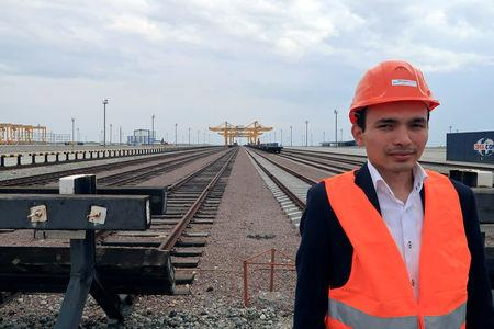 Asset Seisenbek, head of the commercial department at the Khorgos Gateway dry port, is seen in Khorgos, Kazakhstan May 17, 2017. Picture taken May 17, 2017. REUTERS/Sue-Lin Wong