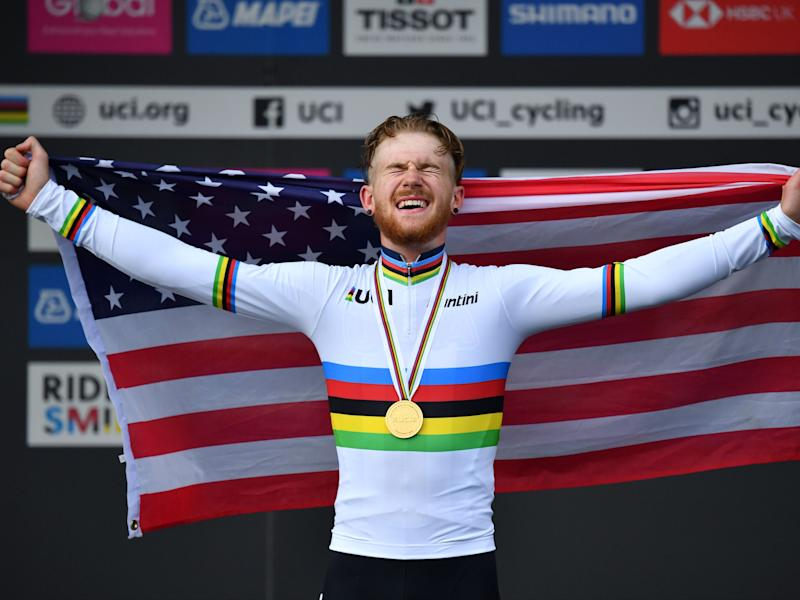 Quinn Simmons: American cyclist suspended by team after pro-Trump comments